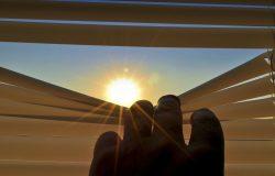 peek thru blinds at sun